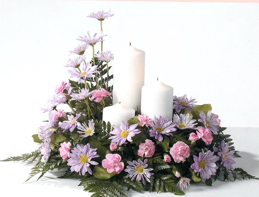 Mixed Candle Arrangement