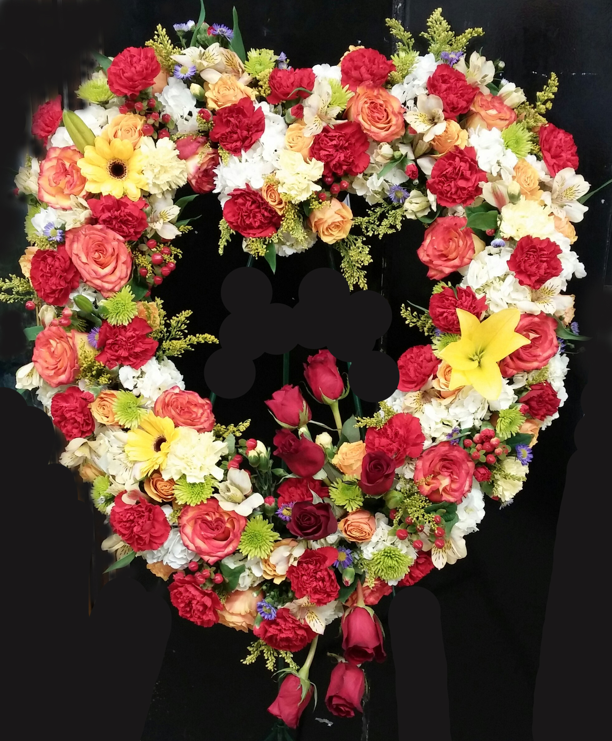 Mixed Heart Wreath